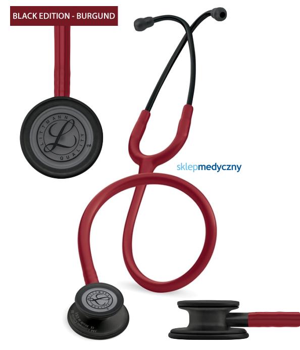 Stetoskop Littmann Classic III Black Edition 5868 burgund bordowy
