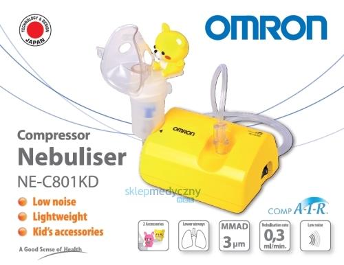 Cichy inhalator t³okowy OMRON NE-C801 KD CompAIR