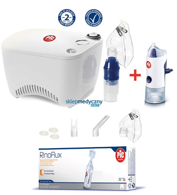 Inhalator t³okowy PIC Solution AiR Cube + Irygator Rino Shower
