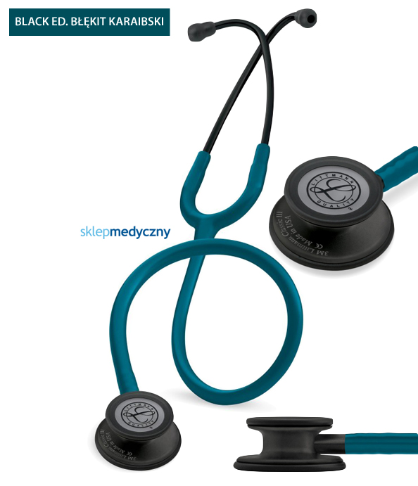 Stetoskop Littmann Classic III Black Edition 5869 b³êkit karaibski