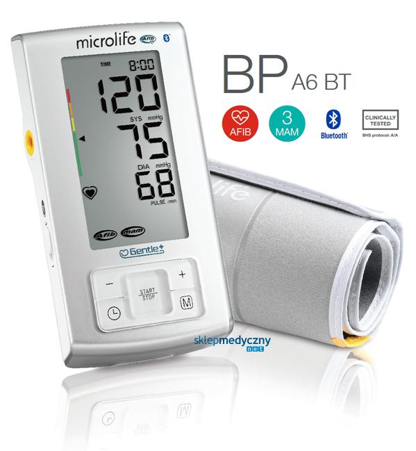 Microlife BP A6 BT - wykrywa migotanie przedsionków