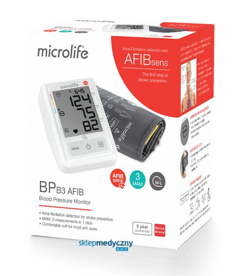 Microlife BP B3 AFIB - wykrywa migotanie przedsionków